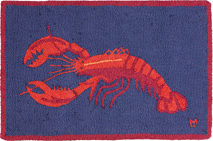 Lobster on Blue