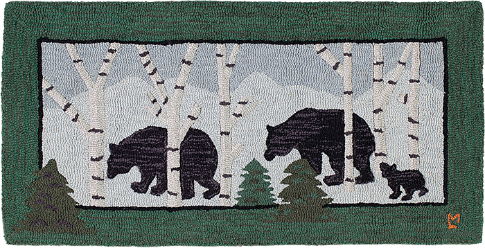 Three Bears in Birch Woods