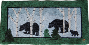 Bears In Birches
